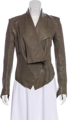 Helmut Lang Leather Cropped Jacket