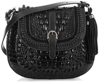 Brahmin Addilyn Croc Embossed Leather Crossbody Bag