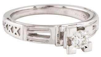 18K Diamond Solitaire Eiffel Tower Diamond Ring