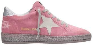 Golden Goose Pink Suede Ball Star Sneakers