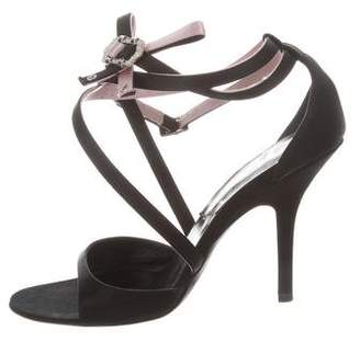 Christian Dior Satin Wrap-Around Sandals