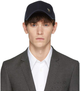 Paul Smith Navy Zebra Baseball Cap