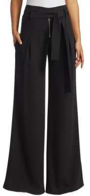 Proenza Schouler Wide-Leg Textured Crepe Pants