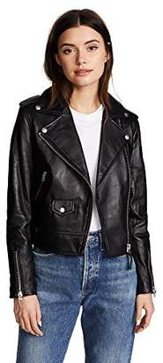 Mackage Women's Baya Classic Sleek Leather Moto Jacket