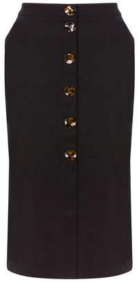 9229fc53bb Mint Velvet Black Button Front Skirt