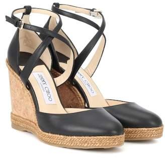 Jimmy Choo Alita 105 leather wedge sandals