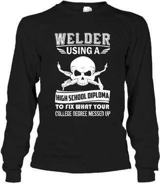 Crazy Love Shirts Welder Tee Shirt - I'm A Welder T-Shirt Design For You and Family Long Sleeve (S,Black)