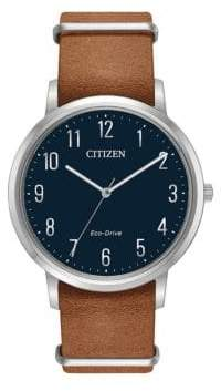Citizen Chandler Bj6500-12L Caramel Leather Watch