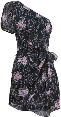 LoveShackFancy Peyton One Shoulder Mini Dress