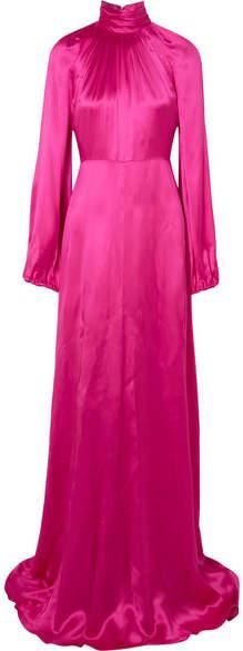 Gucci - Silk-blend Satin Gown - Fuchsia