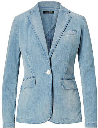 Ralph Lauren Single-Button Denim Blazer $175 thestylecure.com