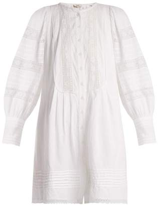 Sea Lace Trimmed Cotton Tunic Dress - Womens - White