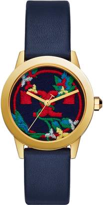 Tory Burch Gigi Leather Strap Watch, 36mm