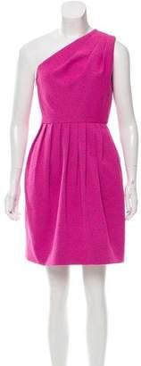 Halston Textured One-Shoulder Dress