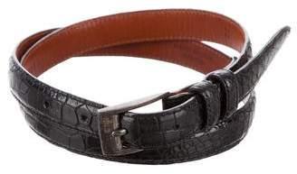 Ralph Lauren Alligator Skinny Belt