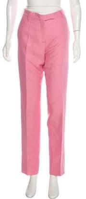 Valentino Virgin Wool & Silk-Blend Mid-Rise Pants w/ Tags