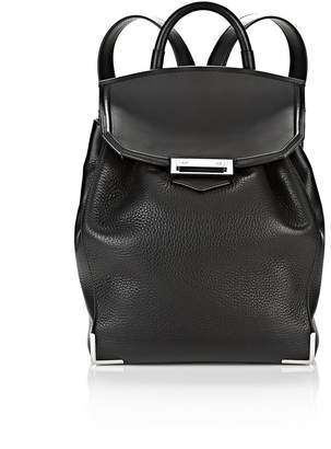 Alexander Wang Prisma Backpack In Pebbled Black With Rhodium