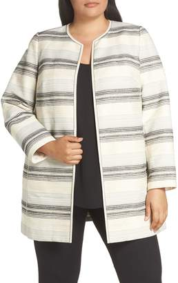 Lafayette 148 New York Pria Stripe Tweed Jacket