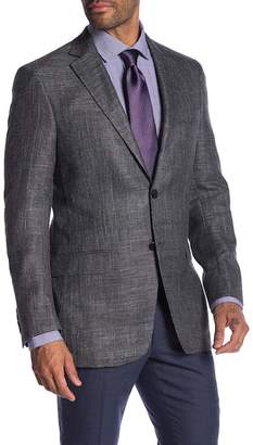 Hart Schaffner Marx Dark Grey Two Button Notch Lapel Classic Fit Blazer