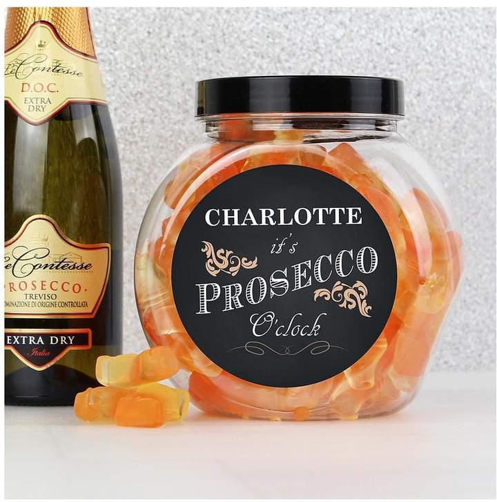 Personalised 'It's Prosecco O'Clock' Prosecco Gummies Jar