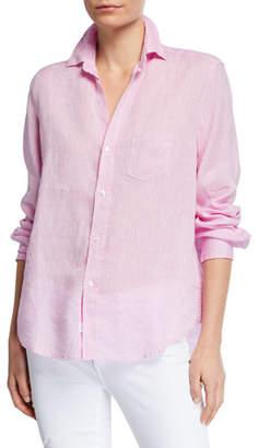 Frank And Eileen Button-Down Long-Sleeve Chambray Linen Shirt
