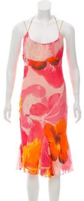Blumarine Printed Sleeveless Dress