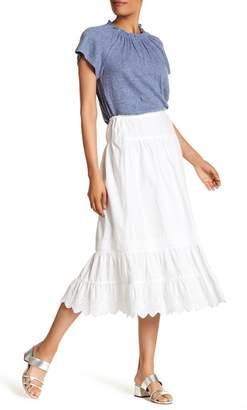 Rebecca Taylor Knit Eyelet Trim Skirt