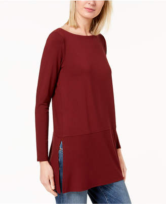 Eileen Fisher Stretch Jersey Boat-Neck Top