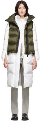 Sacai White and Green Down Puffer Coat