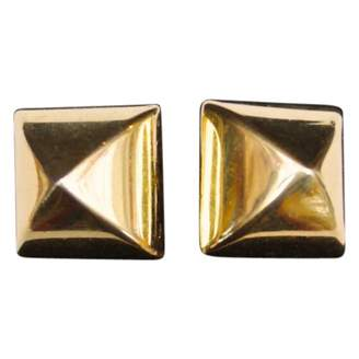 Hermes Vintage Gold Metal Cufflinks