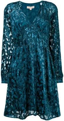 MICHAEL Michael Kors (マイケル マイケル コース) - Michael Michael Kors flared devoré dress