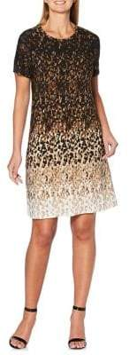 Rafaella Petite Printed Short Sleeve Dress