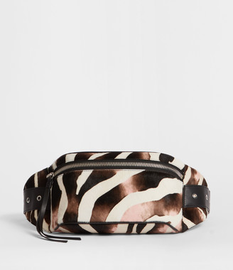 AllSaints Captain Leather Zebra Bumbag