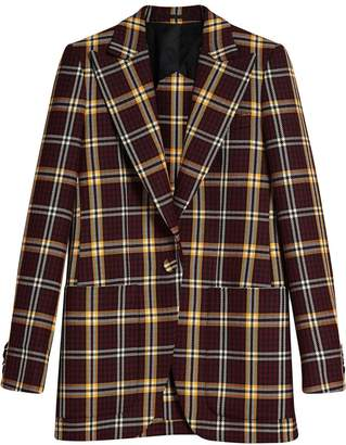 Burberry Check fitted blazer