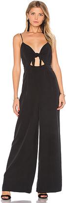 Mara Hoffman Tie Front Jumpsuit in Black $345 thestylecure.com