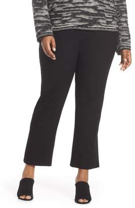 Eileen Fisher Leather Trim Ponte Flare Pants