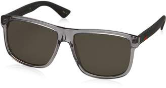 Gucci GG0010S-004 Rectangular/Square Sunglasses Grey/Grey Lens