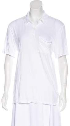 James Perse Collared Short Sleeve Top