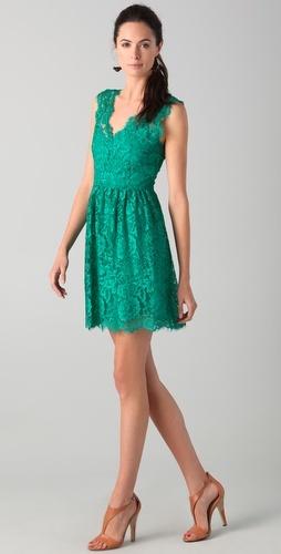 Madison marcus Lace V Back Dress