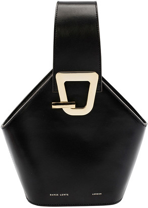 Danse Lente Mini Johnny Leather Hexagon Shoulder Bag