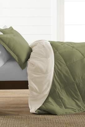 IENJOY HOME Treat Yourself To The Ultimate Down Alternative Reversible 3-Piece Comforter Set - Sage - Queen
