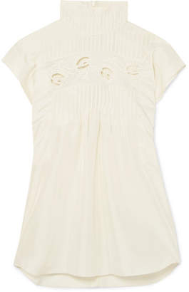 Chloé Pintucked Silk Top - Ivory