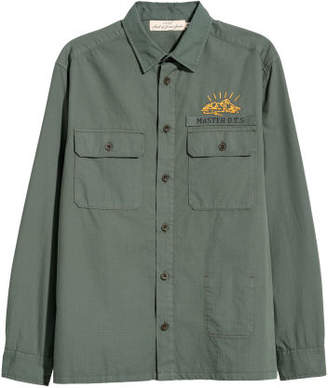 H&M Shirt with Embroidery - Green