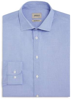 Armani Collezioni Micro Check Classic Fit Dress Shirt