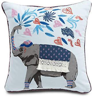 Martha Stewart Elephant Square Cotton Cushion