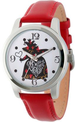 DISNEY Disney Womens Alice In Wonderland Red Queen Strap Watch $49.99 thestylecure.com