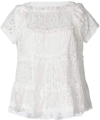 Sacai flared lace T-shirt