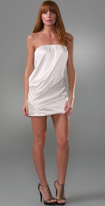 Foley + Corinna Strapless Zigzag Dress