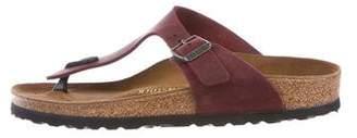 Birkenstock Nubuck Thong Sandals