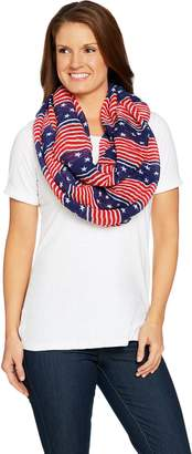 Joan Rivers Classics Collection Joan Rivers Patriotic Stars & Stripes Infinity Scarf